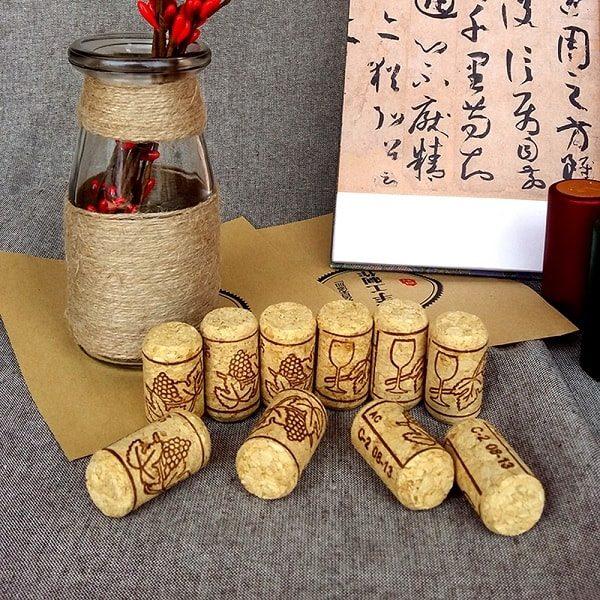 Bouchon en liège pour bouteille de vin (lot de 15) 2