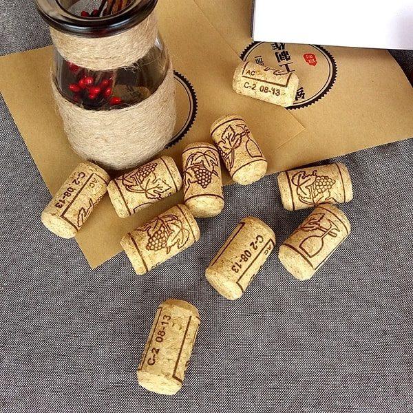 Bouchon en liège pour bouteille de vin (lot de 15) 3
