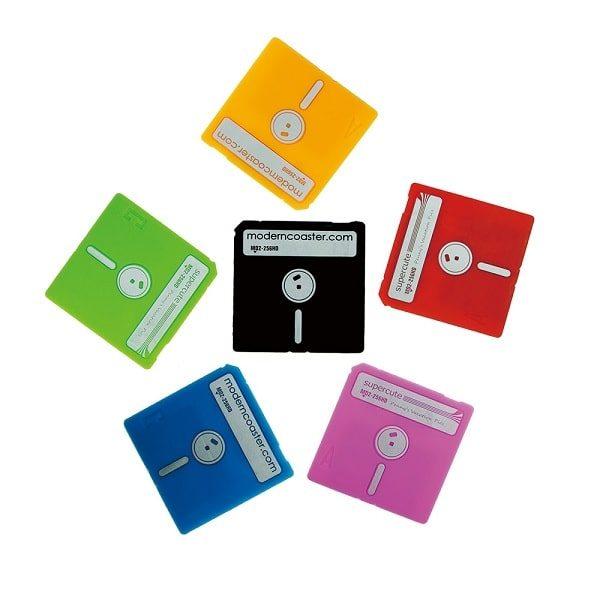 Dessous de verre disquette dos
