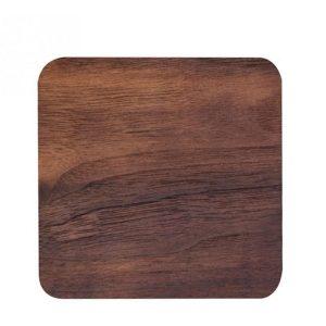 Dessous de verre en bois naturel carré foncé