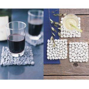 Dessous de verre en pierre naturelle (lot de 4)