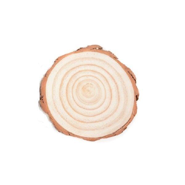 Dessous de verre en rondin de bois 7-8cm lot de 1