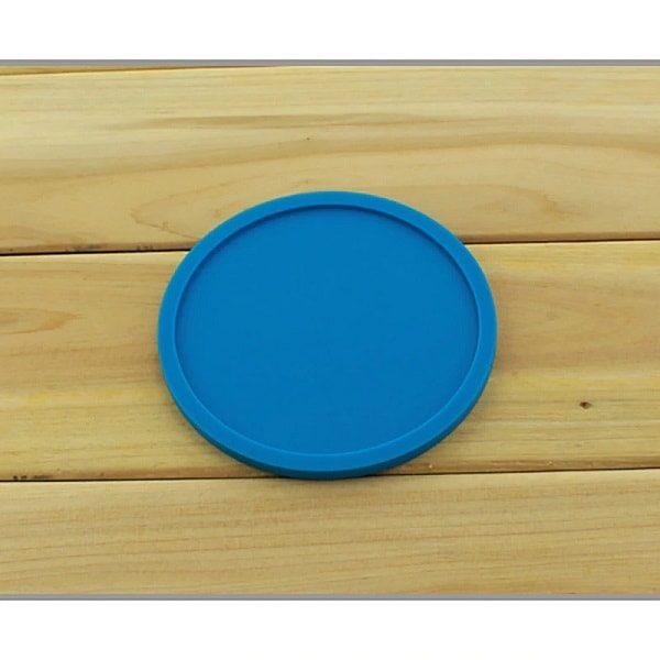 Dessous de verre en silicone bleu 1