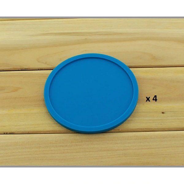 Dessous de verre en silicone bleu 4
