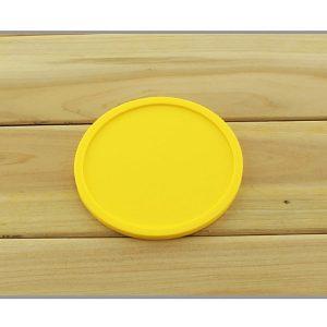 Dessous de verre en silicone jaune 1