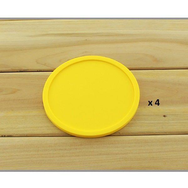 Dessous de verre en silicone jaune 4