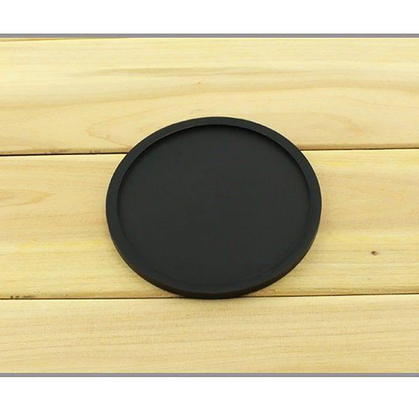 Dessous de verre en silicone noir 1