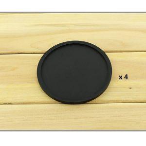 Dessous de verre en silicone noir 4