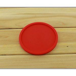 Dessous de verre en silicone rouge 1