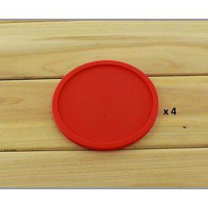 Dessous de verre en silicone rouge 4