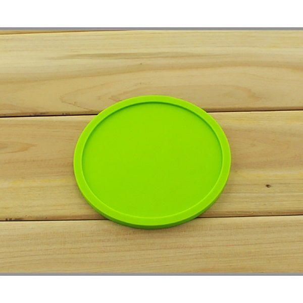Dessous de verre en silicone vert 1