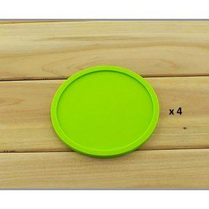 Dessous de verre en silicone vert 4