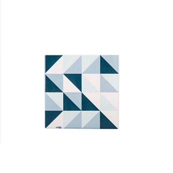 Dessous de verre mosaïque carré bleu