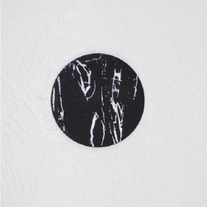 Dessous de verre noir et blanc, majeure noir rond 1