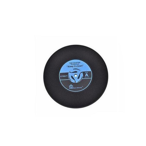 Dessous de verre vinyle (lot de 4) bleu