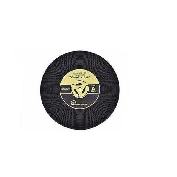Dessous de verre vinyle (lot de 4) jaune