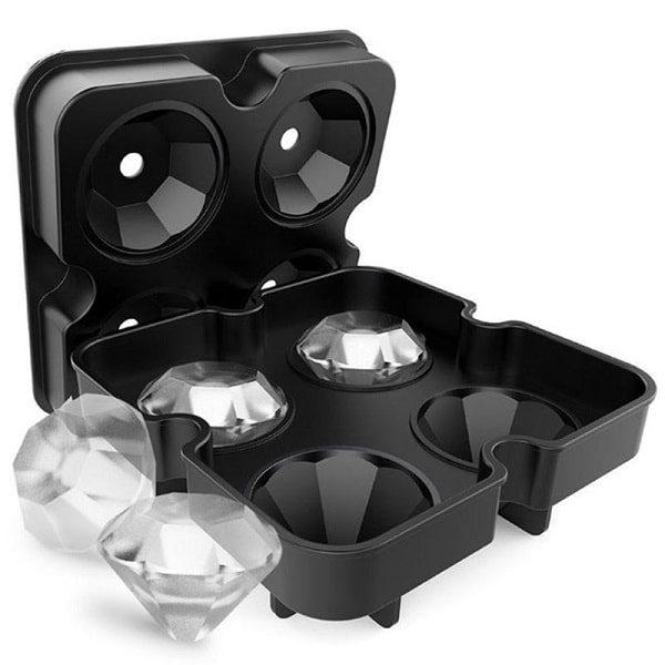 Moule à glaçon diamant Noir 2