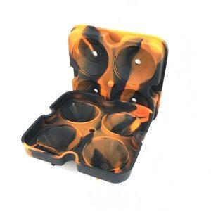 Moule à glaçon diamant Noir Orange 2