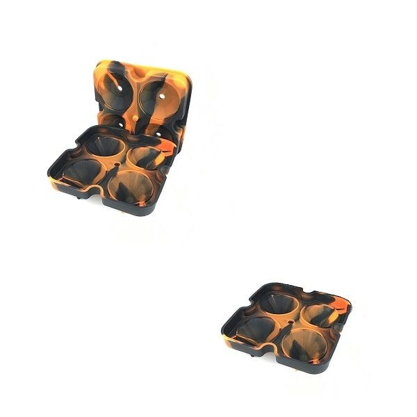 Moule à glaçon diamant Noir Orange 3