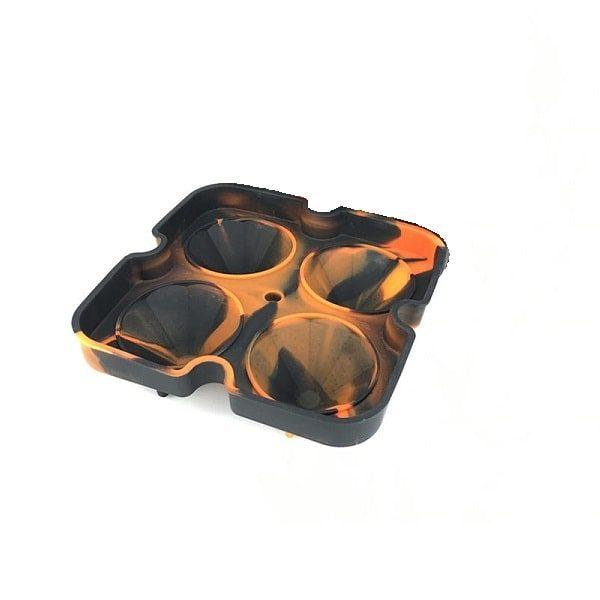 Moule à glaçon diamant Noir Orange