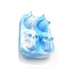 Moule à glaçon tête de mort Bleu et blanc