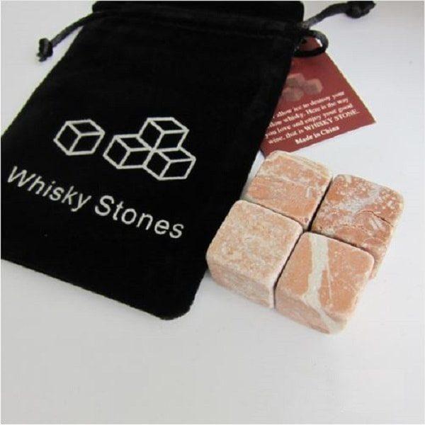 Pierre à whisky en granit - roux lot de 4