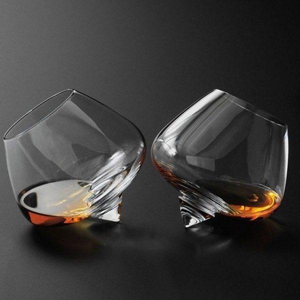 Verre à whisky qui tourne Lot de 2
