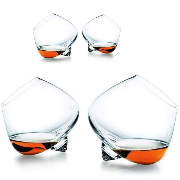Verre à whisky qui tourne Lot de 4