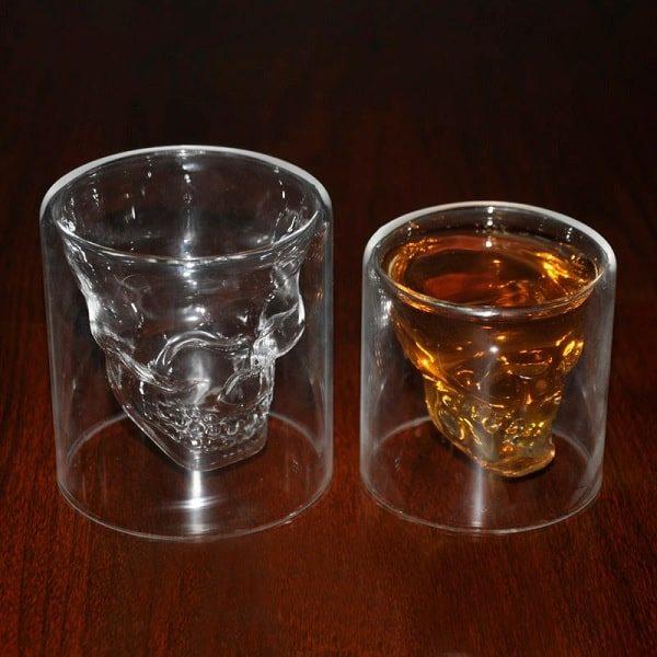 Verres à whisky tête de mort