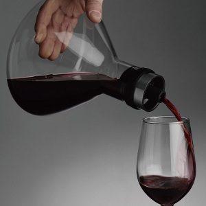 carafe à décanter avec aérateur, mise en verre