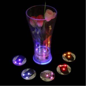 Dessous de verre lumineux à piles