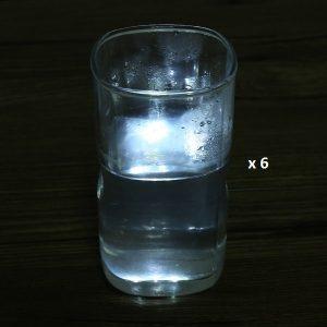 Dessous de verre lumineux à piles, blanc lot de 6