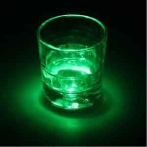 Dessous de verre lumineux à piles, vert unité