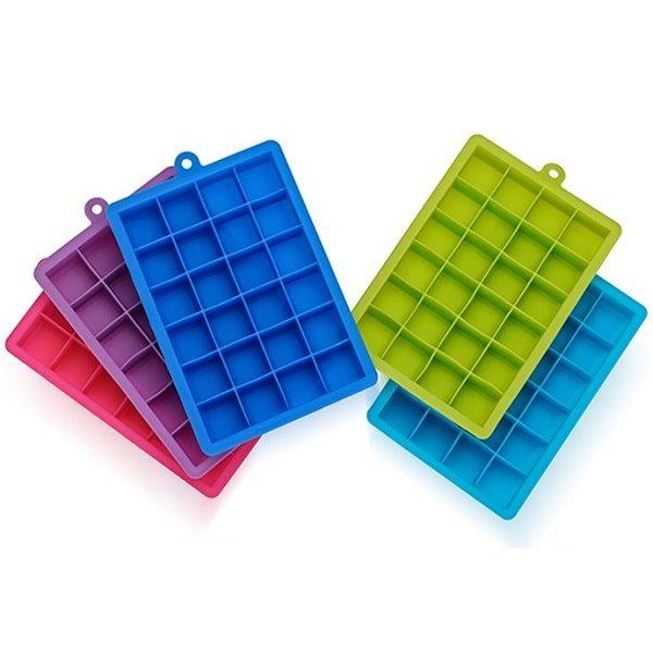 Moule à glaçon en silicone, cinq couleurs