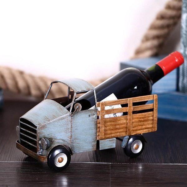 Porte bouteille de vin camion