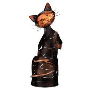 Porte bouteille de vin chat 1