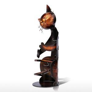 Porte bouteille de vin chat 2
