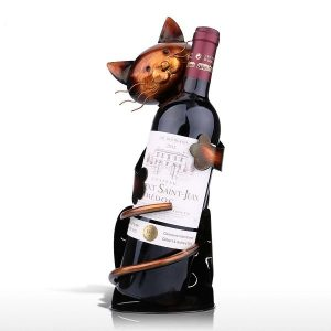 Porte bouteille de vin chat