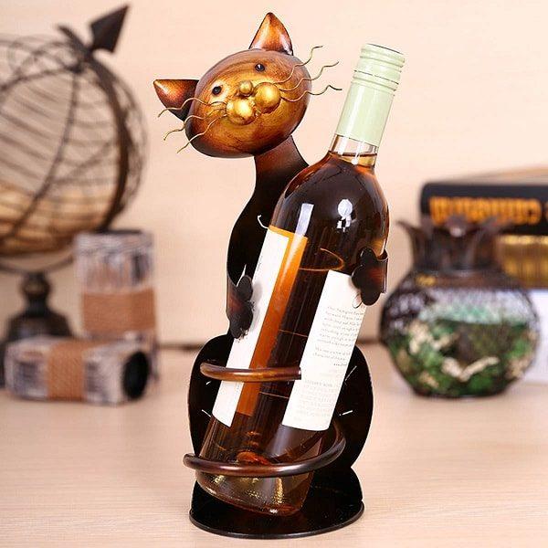 Porte bouteille de vin chat 4