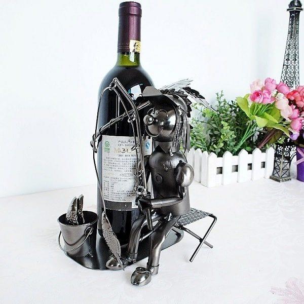 Porte bouteille de vin du pêcheur