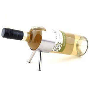Porte bouteille de vin inox