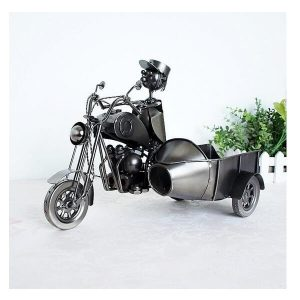 Porte bouteille de vin moto, side car view 2