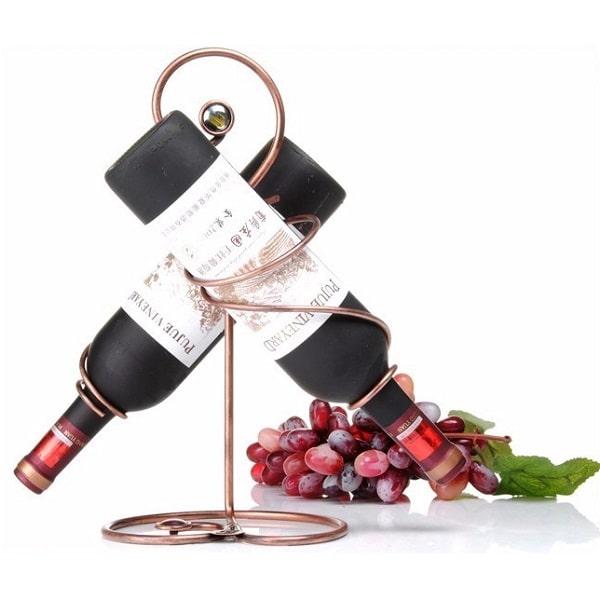 original porte bouteille de vin pour 2 bouteilles fait. Black Bedroom Furniture Sets. Home Design Ideas