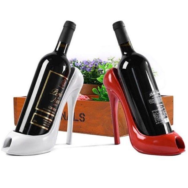 Porte bouteille de vin talon haut