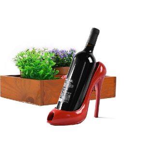Porte bouteille de vin talon haut, rouge