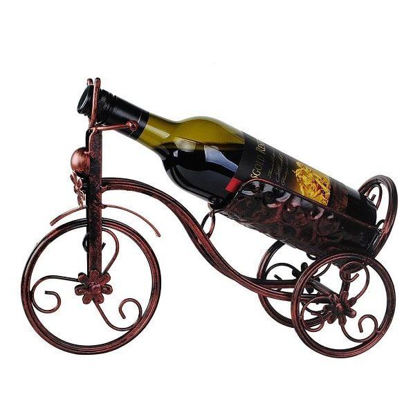 Porte bouteille de vin vélo