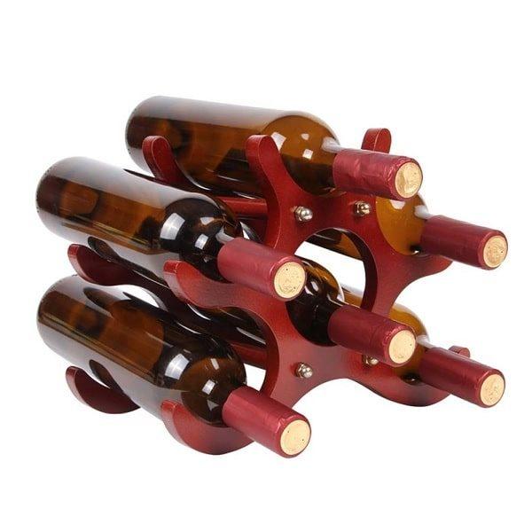 Porte bouteille en bois