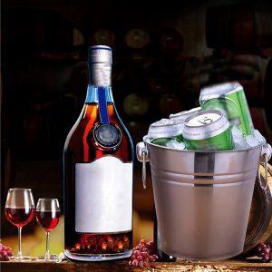 Seau à champagne en inox