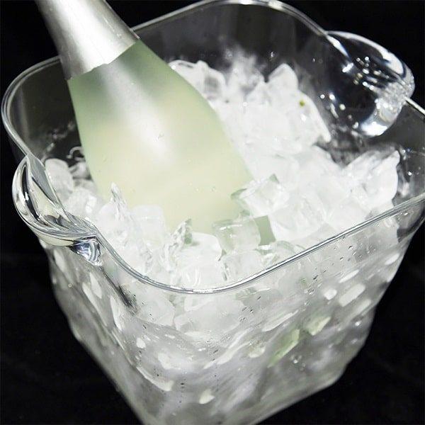 Seau à champagne en plastique transparent, 4
