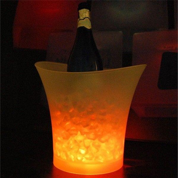 Seau à champagne lumineux jaune